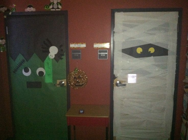 Decorating Ideas > Pin By Katy Lawlor On Teaching  Pinterest ~ 030234_Halloween Door Decorations For School
