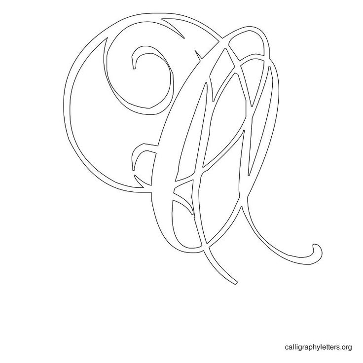 Calligraphy Letter Stencil O Print Y Printables Pinterest