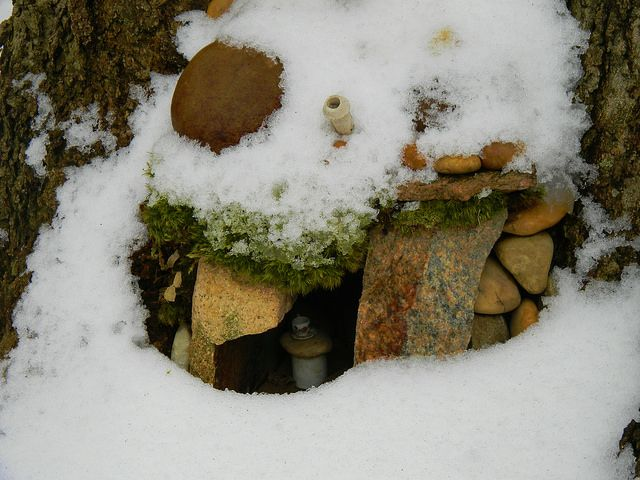 Fairy House in Winter | Once Upon a Fairy Tale | Pinterest