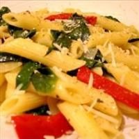 Simple Spinach and Red Bell Pepper Pasta | Mushroom Soup Is Not An In ...