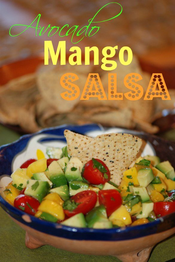 This avocado mango salsa is like a party in your mouth. #snack #salsa ...