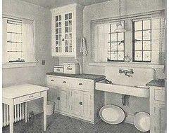 Floor tile in 1920 39 s kitchen houzz home pinterest for 1920 kitchen floor tile