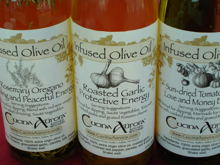 ... roasted garlic, rosemary oregano, and sun-dried tomato infused oils by