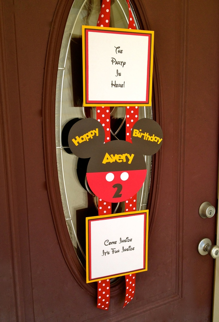Mickey Mouse Birthday Door Banner  Hanger by PicturePerfectParty, $20.00