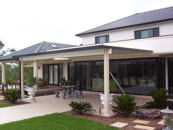 colorbond flat foofed awning patio image ideas for my