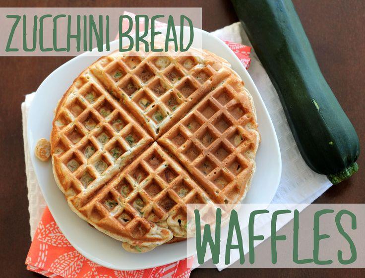 Zucchini Bread Waffles | recipes [breakfast & brunch] | Pinterest