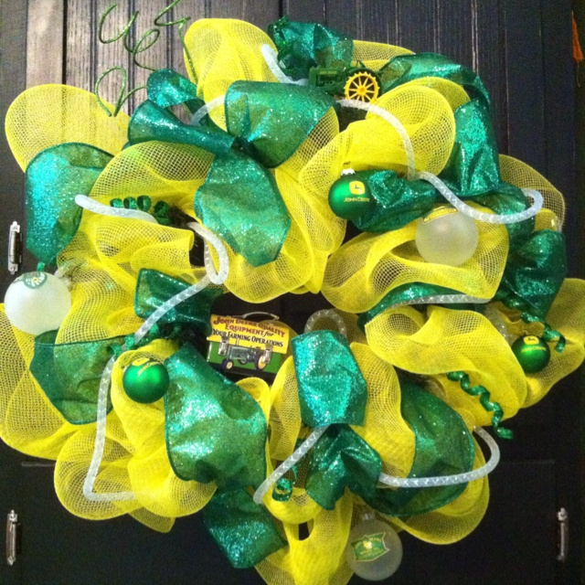 John Deere Deco Mesh Wreath
