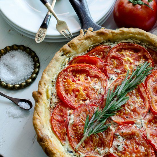 Tomato and Goat Cheese Tart | Inspired by Food | Pinterest