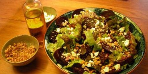 "Beet and Feta Salad with Honey-Oregano Vinaigrette,"" sounds good"