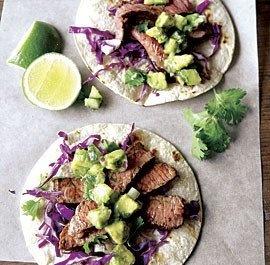 steak tacos with avocado-cucumber salsa | food i wanna make, then eat ...