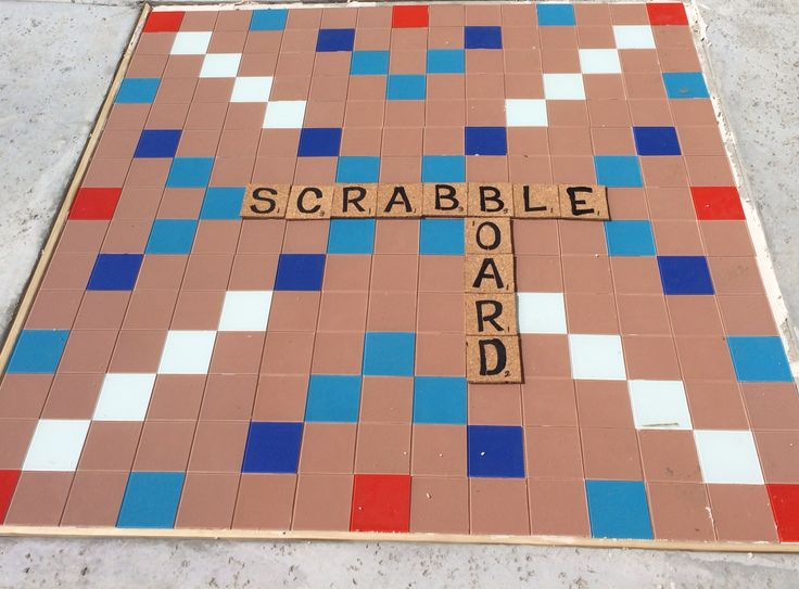 Backyard Scrabble Tiles : Backyard scrabble board Added a 5 foot square of plywood to the wet