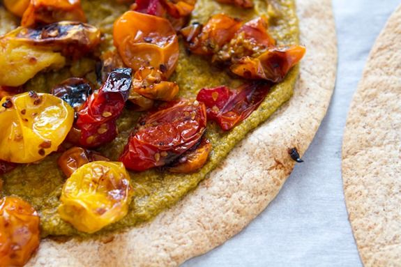 ... Cashew Cheese 3641 Easy Roasted Tomato Pizza with Basil Cashew Cheeze