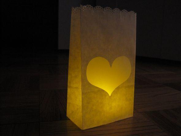 Personal Paper Bag Luminaries Reception Ideas Pinterest