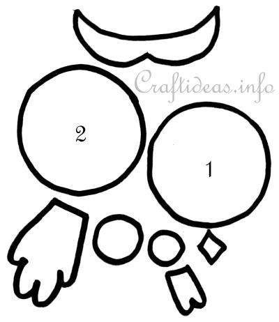 paper owl template sowy pinterest