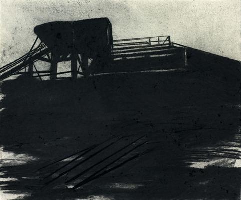 Arno Kramer   Untitled (Dundalk), 2012  charcoal and conté on paper