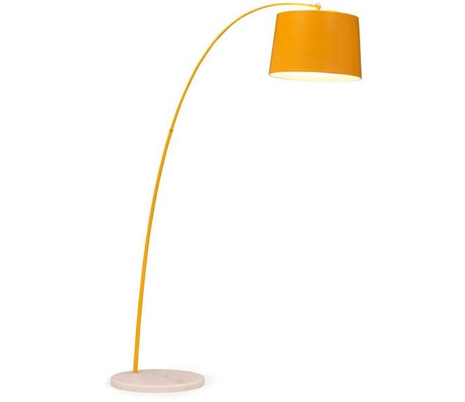 twisty floor lamp yellow w white base 4 handel st pinterest. Black Bedroom Furniture Sets. Home Design Ideas