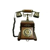 Classic Telephone in Mahogany Vintage