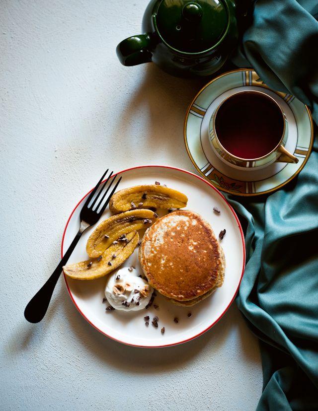 Roasted Banana Chocolate Pancakes Recipes — Dishmaps