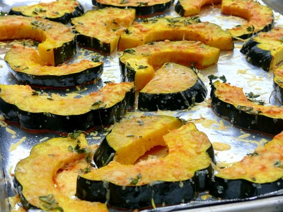 Parmesan-Roasted Acorn Squash (these were really tasty although I ...