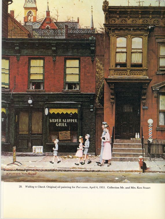 Norman rockwell walking to church related images