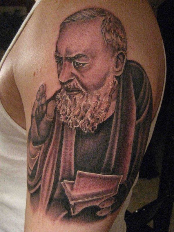 St padre pio tattoo body art and creative minds pinterest for Taylor st tattoo