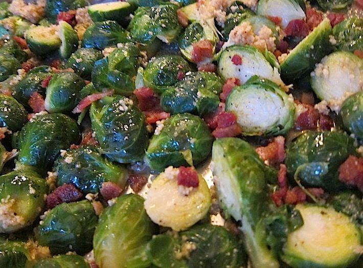We're Cooking: Roasted Brussels Sprouts with Bacon & Brown Sugar and ...