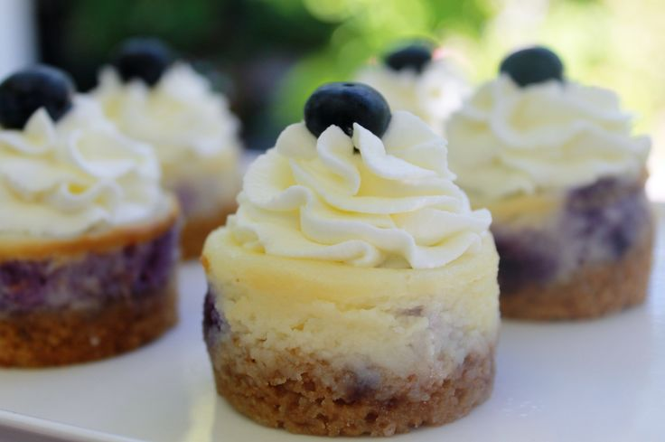 Blueberry mini cheesecakes | Mini cheesecakes | Pinterest
