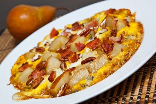 Caramelized Pear and Gorgonzola Omelette with Bacon and Pecans | Reci ...