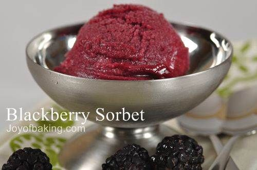 Blackberry Sorbet Recipe | Everything yummy.....and then some ...