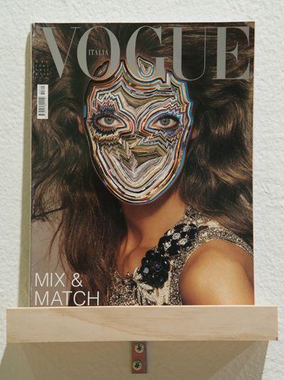 cut out Vogue magazine