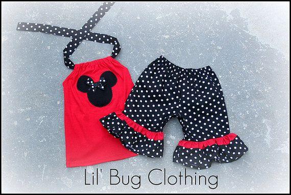 Custom Boutique Clothing Black White Dot Minnie