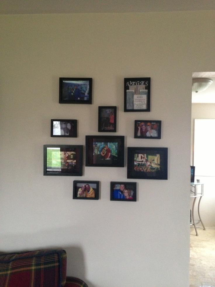 Wall Frame Arrangement Stuff I Need For Home Pinterest