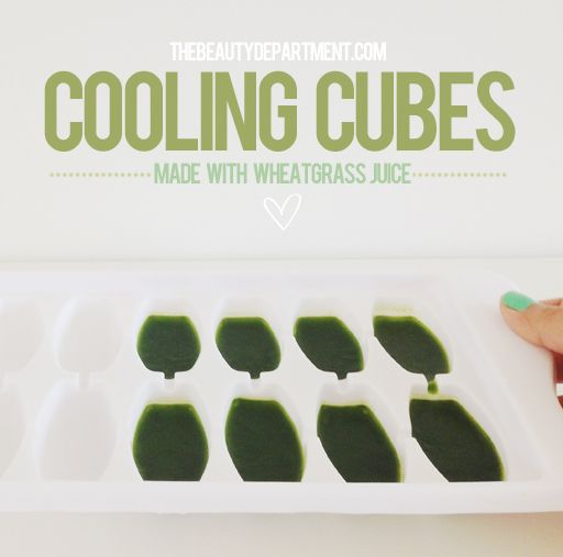 DIY WHEATGRASS ICE CUBES - The Beauty Department