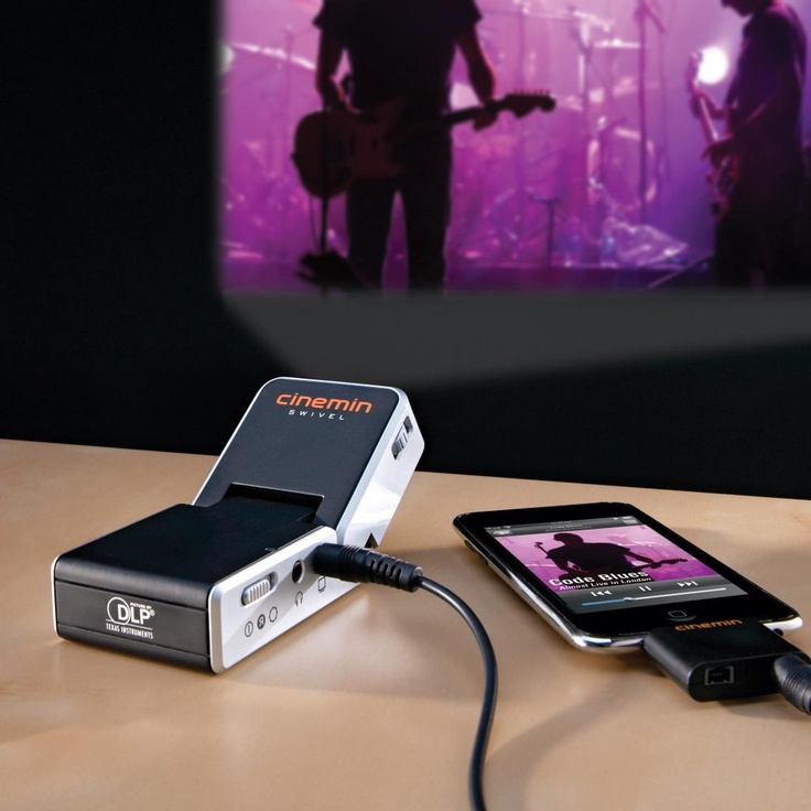 A mini projector for your iphone/ipod. >> How cool!