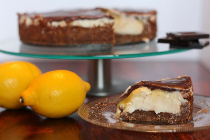 Lemon curd and chocolate cheesecake pie | A cup of tea solves everyth ...