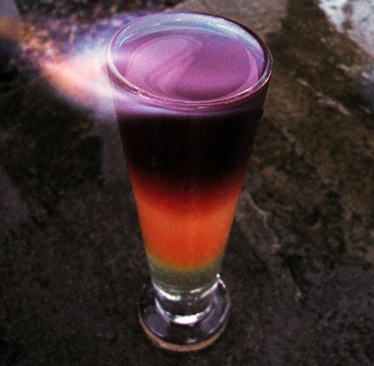 ... colors are pretty. It's a Ginger Orange Pomegranate flavored drink
