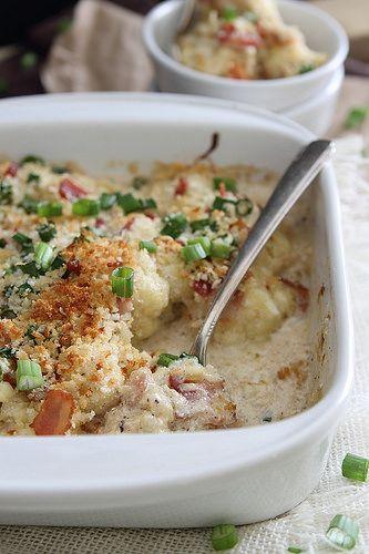 Cauliflower Bacon Gratin by Runningtothekitchen, via Flickr