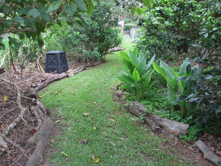 Log garden edging garden pinterest for Log garden edging