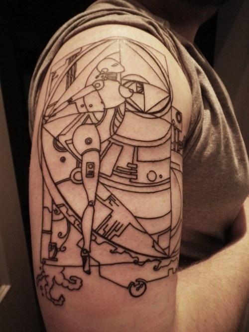 art deco robots tattoos favourite pins pinterest. Black Bedroom Furniture Sets. Home Design Ideas