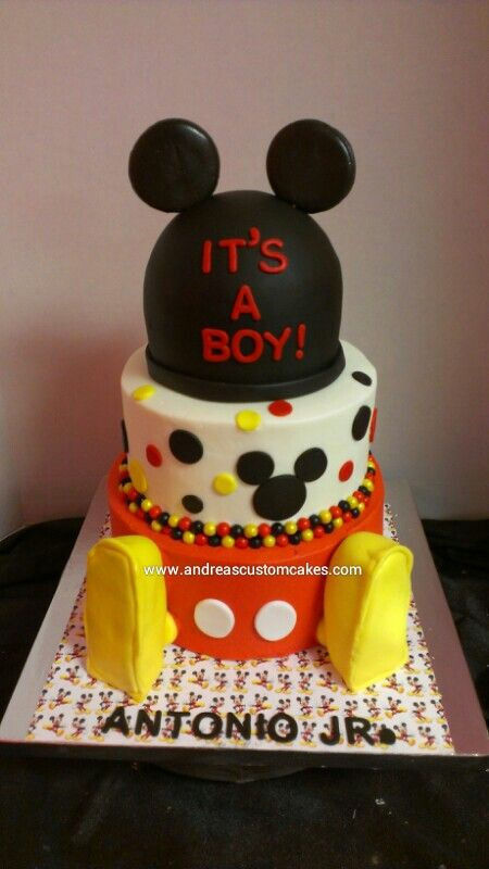 Mickey Mouse Baby Shower Cake Images : Mickey mouse baby shower cake Welcome Baby Elias Pinterest