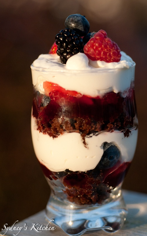 Mixed Berry Trifle | Desserts | Pinterest