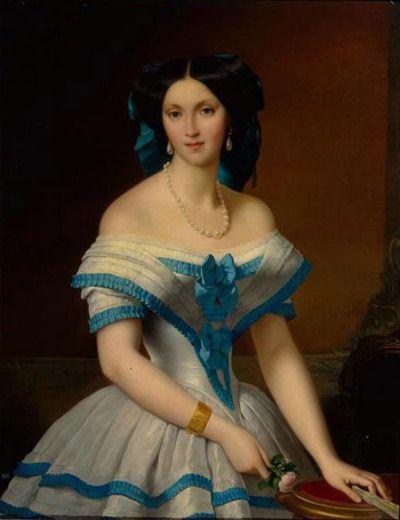 Portrait of Princess Elizaveta Alexandrovna Tchernicheva by Alexis-Joseph Perignon, 1853