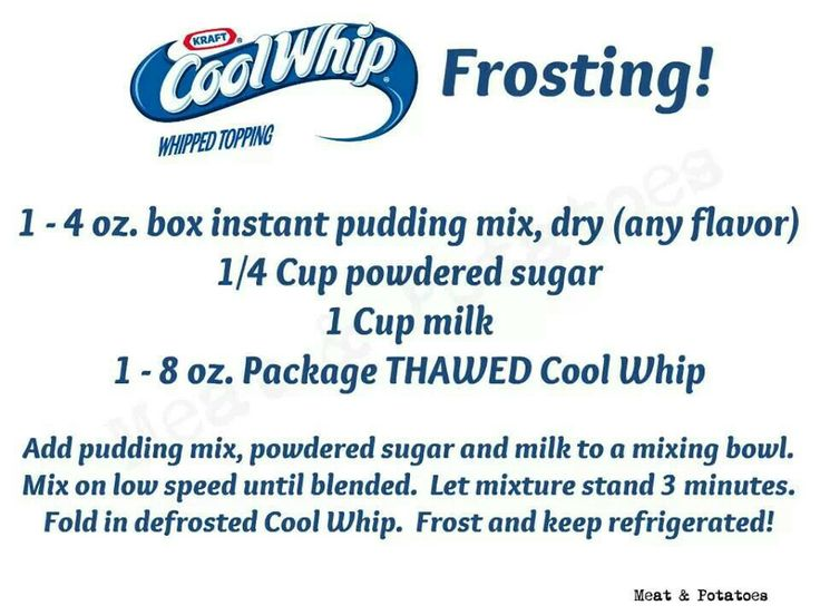 Cool whip frosting for cupcakes | Recipes | Pinterest