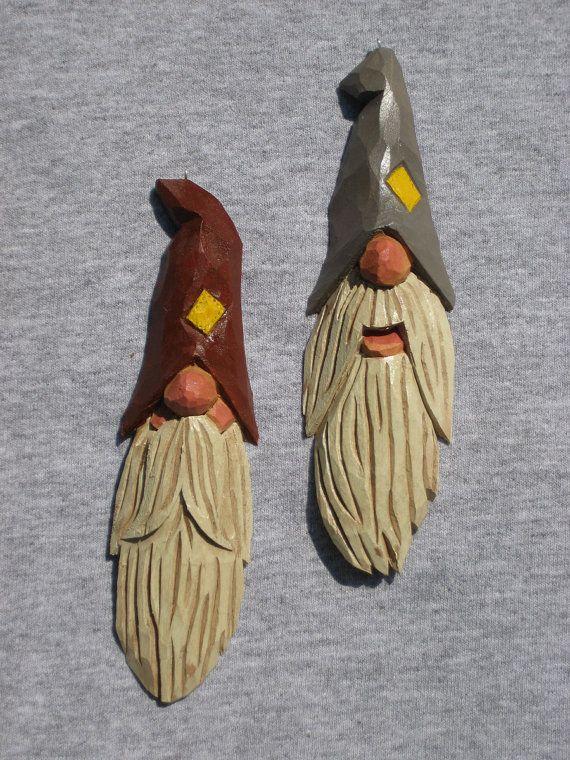 Hand Carved Hillbilly Santa Tree Ornament $15.00, via Etsy