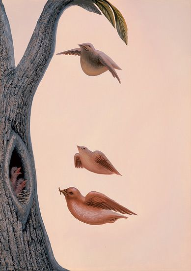"Octavio Ocampo, ""Family of Birds."""