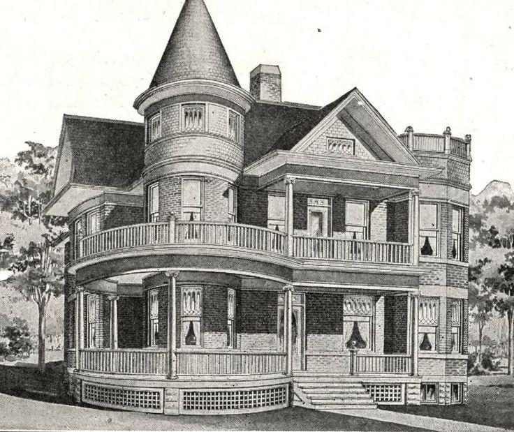 Sears modern house 303 house house house vintage home for Victorian home catalog