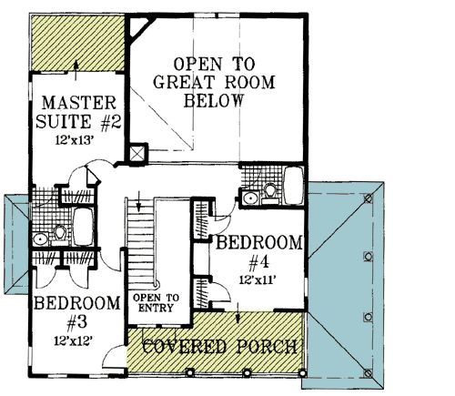 Beach house plan with two story great room for Great room floor plans
