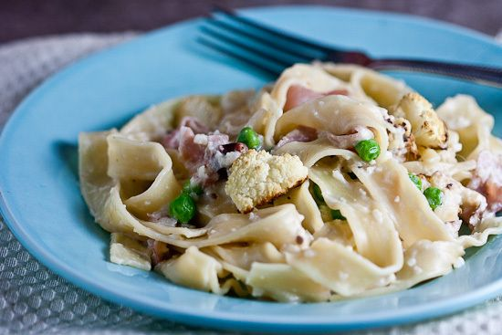 More like this: cauliflower , peas and prosciutto .