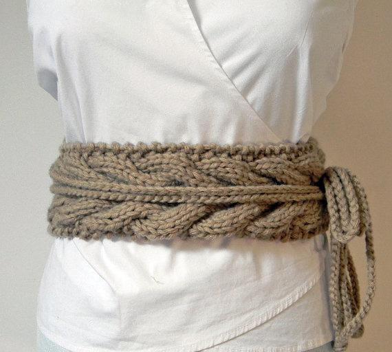Knitted wool belt Crochet & Knit Pinterest