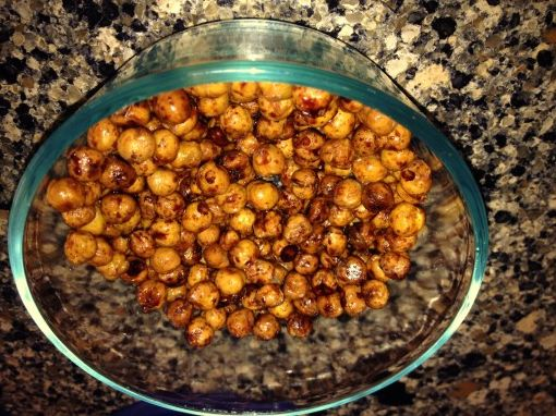 crunchy and sweet garbanzo beans snackers